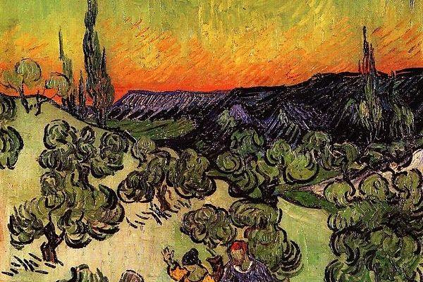 Van Gogh Moonlit Landscape