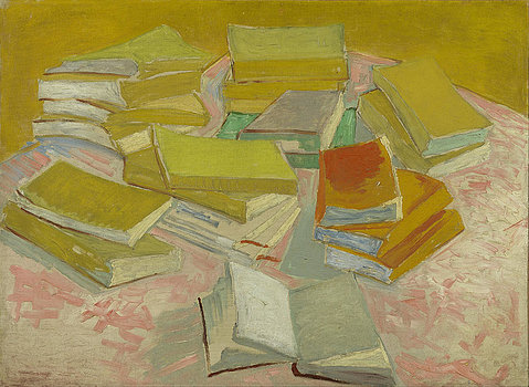 1-piles-of-french-novels-vincent-van-gogh