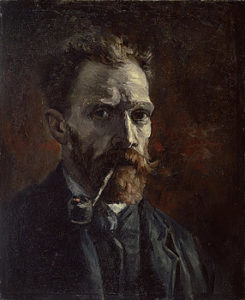 1-self-portrait-with-pipe-vincent-van-gogh