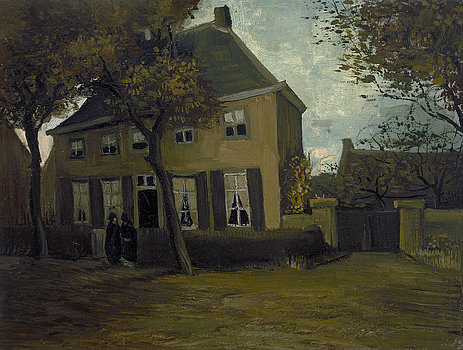 1-the-vicarage-at-nuenen-vincent-van-gogh