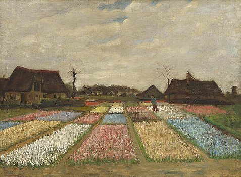 2-flower-beds-in-holland-vincent-van-gogh