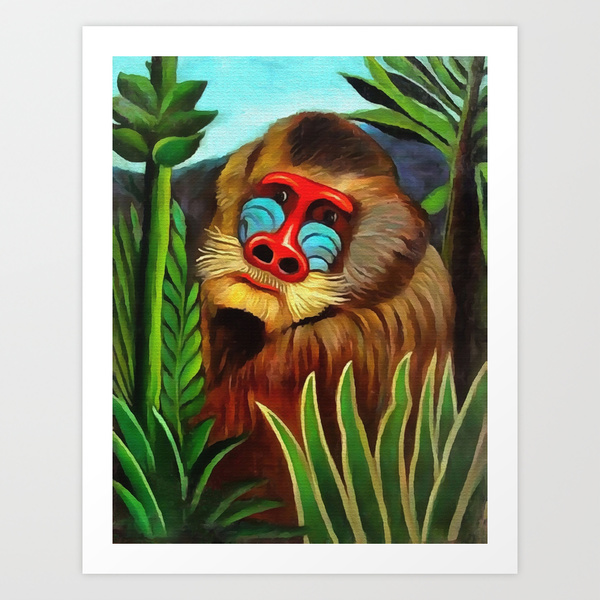 Mandrill In The Jungle by Henri Rousseau