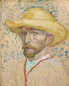 5-self-portrait-with-straw-hat-vincent-van-gogh