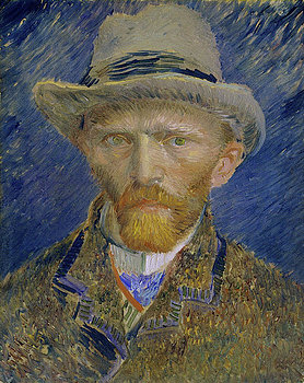 6-self-portrait-with-grey-felt-hat-vincent-van-gogh