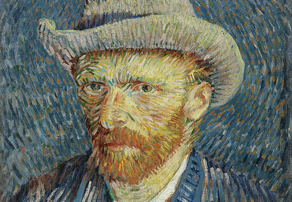 6-self-portrait-with-grey-felt-hat-vincent-van-gogh
