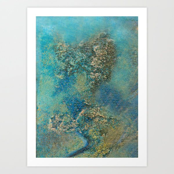 Philip Bowman Ocean Blue Art Print