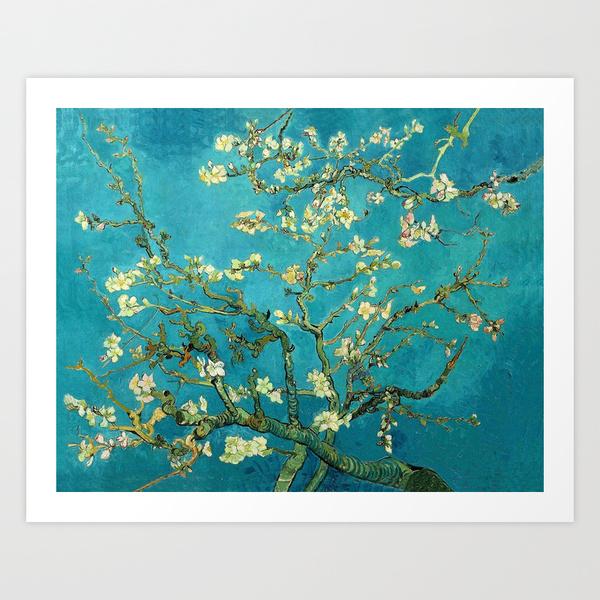 Vincent Van Gogh Blossoming Almond Tree Print