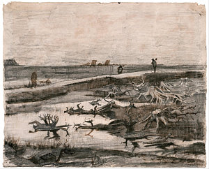landscape-with-bog-trunks-vincent-van-gogh