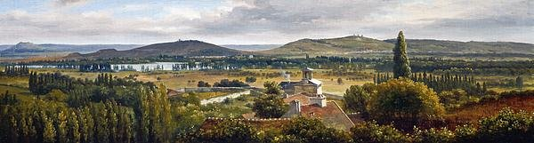 Panoramic View Of The Ile-De-France Print
