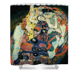 Gustav Klimt The Maiden Shower Curtain