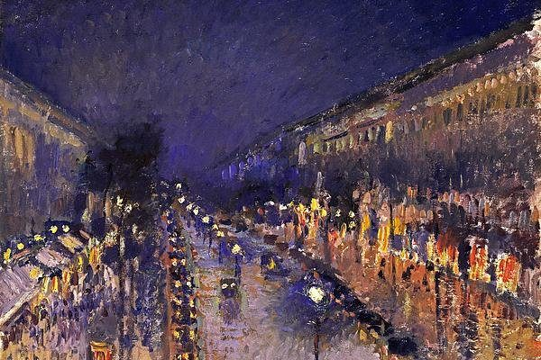 The Boulevard Montmartre At Night Print